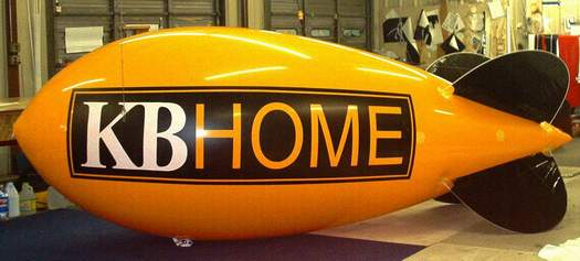 Advertising Blimp - KB Home logo - 14ft.